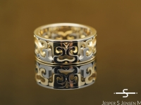 Custom design work in gold, platinum and diamonds by master goldsmith Jesper Jensen